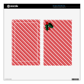 Candy Cane Stripes Decal For Kindle Fire