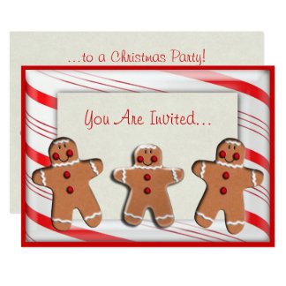 Candy Cane Stripes Gingerbread Cookies Card
