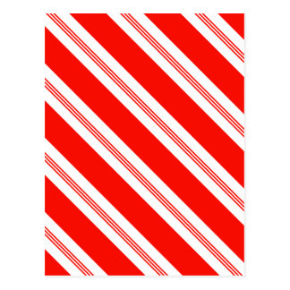 Candy Cane Stripes Holiday Pattern Postcard
