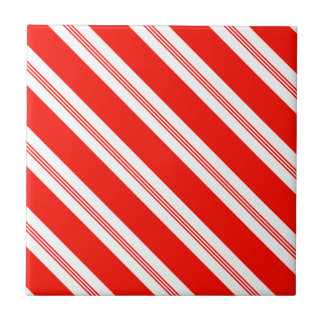 Candy Cane Stripes Holiday Pattern Tile