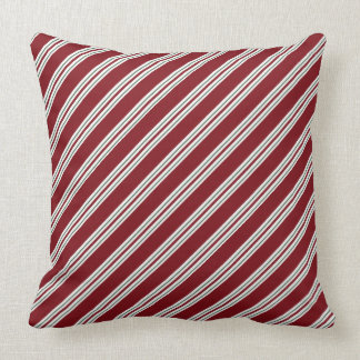 Candy Cane Stripes Holiday Throw Pillow
