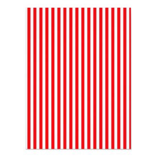 Candy Cane Stripes in Christmas Red and Snow White Card