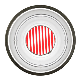 Candy Cane Stripes in Christmas Red and Snow White Pet Bowl