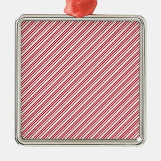 Candy Cane Stripes Metal Ornament