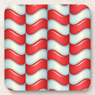 Candy cane stripes pattern beverage coaster
