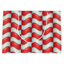 Candy cane stripes pattern large gift bag