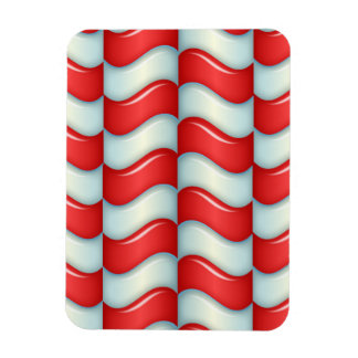 Candy cane stripes pattern magnet