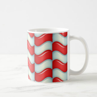Candy cane stripes pattern classic white coffee mug