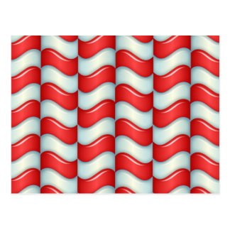 Candy cane stripes pattern postcard