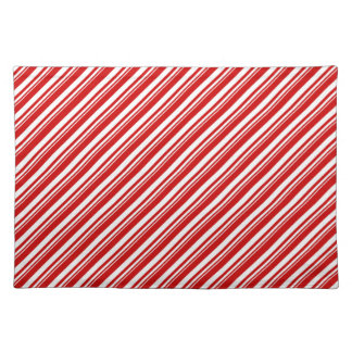 Candy Cane Stripes Placemat