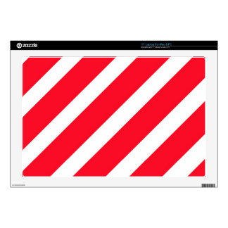 Candy Cane Stripes Skins For Laptops