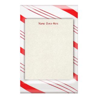 Candy Cane Stripes Stationery