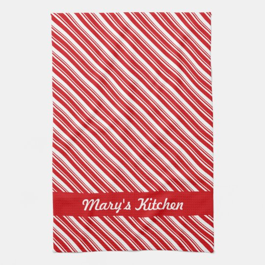 Candy Cane Stripes Towel