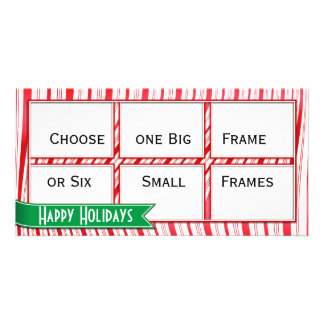 Candy Cane Strips Picture Card