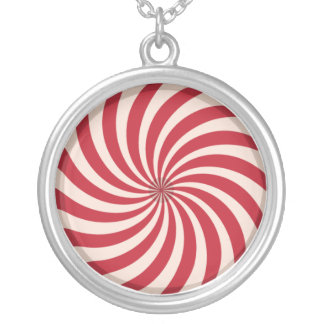 Candy Cane Swirl Necklace