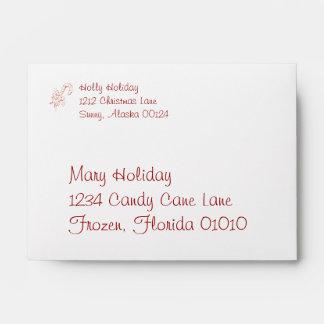 Candy Cane Swirls Envelopes