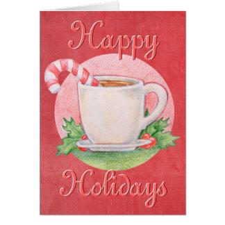 Candy Cane Tea Christmas Card