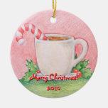 Candy Cane Tea Ornament