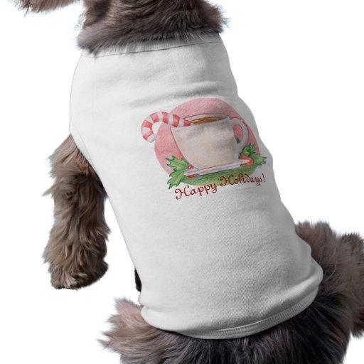 Candy Cane Tea Pet Clothing