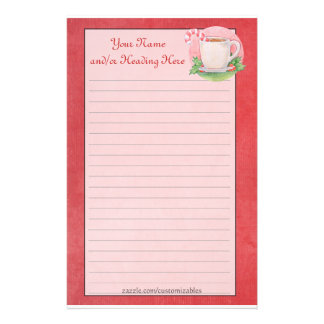 Candy Cane Tea Stationery