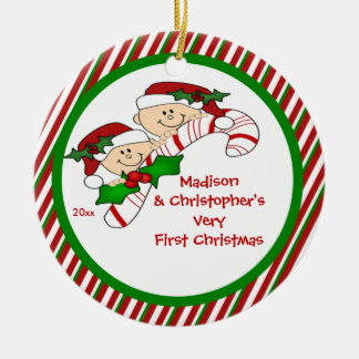 Candy Cane Twin s First Christmas Ornament