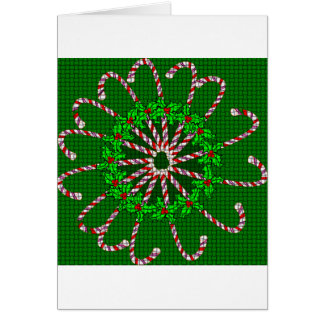 Candy Cane Weave Card