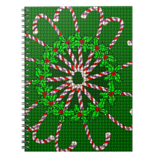 Candy Cane Weave Notebook