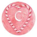 Candy Cane Wedding Seals, Monogram Stickers sticker