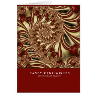 Candy Cane Wishes Card