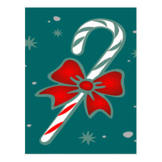 candy cane with bow  cards
