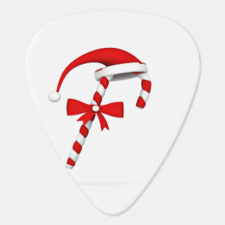 Candy cane with cap guitar pick