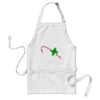 Candy Cane with Holly Adult Apron
