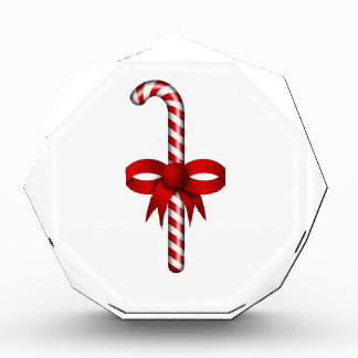Candy Cane with Red Ribbon Bow Tied Around It Awards
