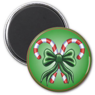 Candy Canes and Bow Magnet