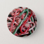 Candy Canes and Peppermints Christmas Holiday Button