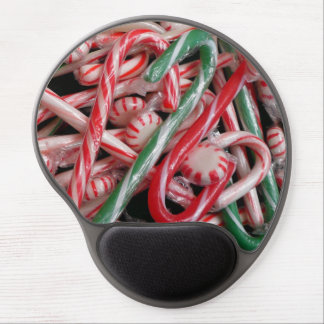 Candy Canes and Peppermints Christmas Holiday Gel Mouse Pad