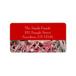 Candy Canes and Peppermints Christmas Holiday Label