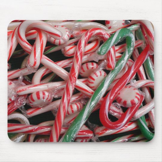Candy Canes and Peppermints Christmas Holiday Mouse Pad