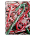 Candy Canes and Peppermints Christmas Holiday Notebook