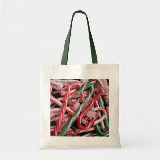 Candy Canes and Peppermints Christmas Holiday Tote Bag