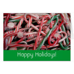 Candy Canes and Peppermints Holiday Card (Blank In