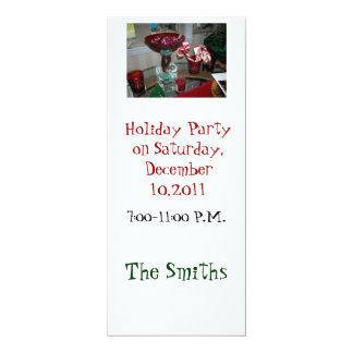 candy canes and red glass invite