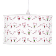 Candy Canes Background Pendant Lamp
