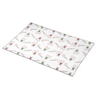 Candy Canes Background Placemats