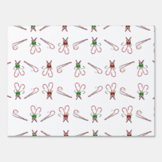 Candy Canes Background Yard Signs