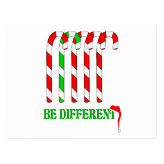 Candy Canes - Be Different Postcard