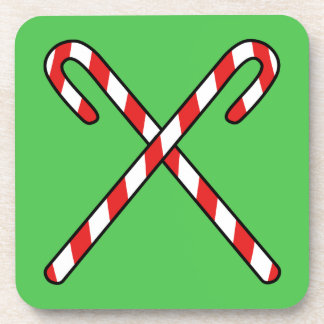 Candy Canes Beverage Coaster