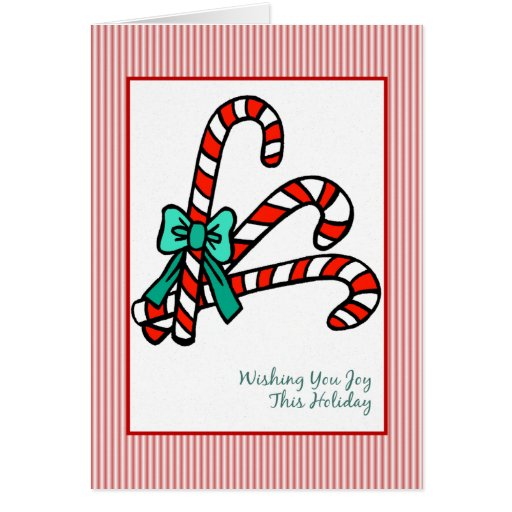 Candy Canes Christmas Cards