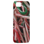 Candy Canes Christmas Holiday White Green and Red iPhone SE/5/5s Case
