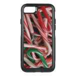 Candy Canes Christmas Holiday White Green and Red OtterBox Commuter iPhone 8/7 Case